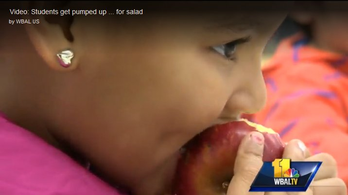 Girl eating apple - WBAL report photo